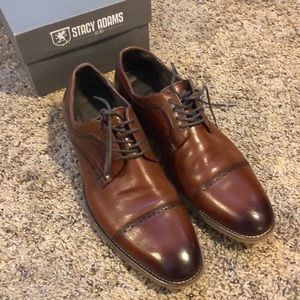 Stacy Adams Men's Cognac Dress Shoes